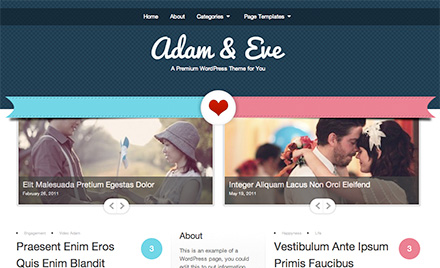WordPress Adam and Eve Theme