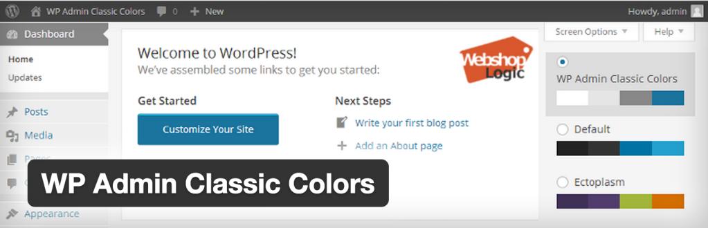 Classic Admin Color Scheme Plugin