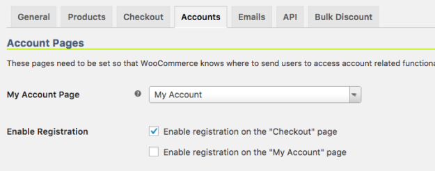 "WooCommerce Enable registration on the ""Checkout"" page"