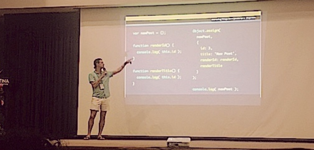 Zac Gordon Advanced JavaScript Topics Talk at WordCamp San José Costa Rica