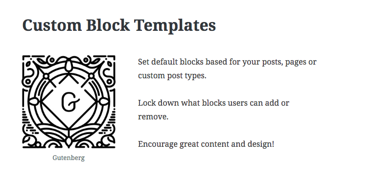 Example of a block template with and image and paragraph block