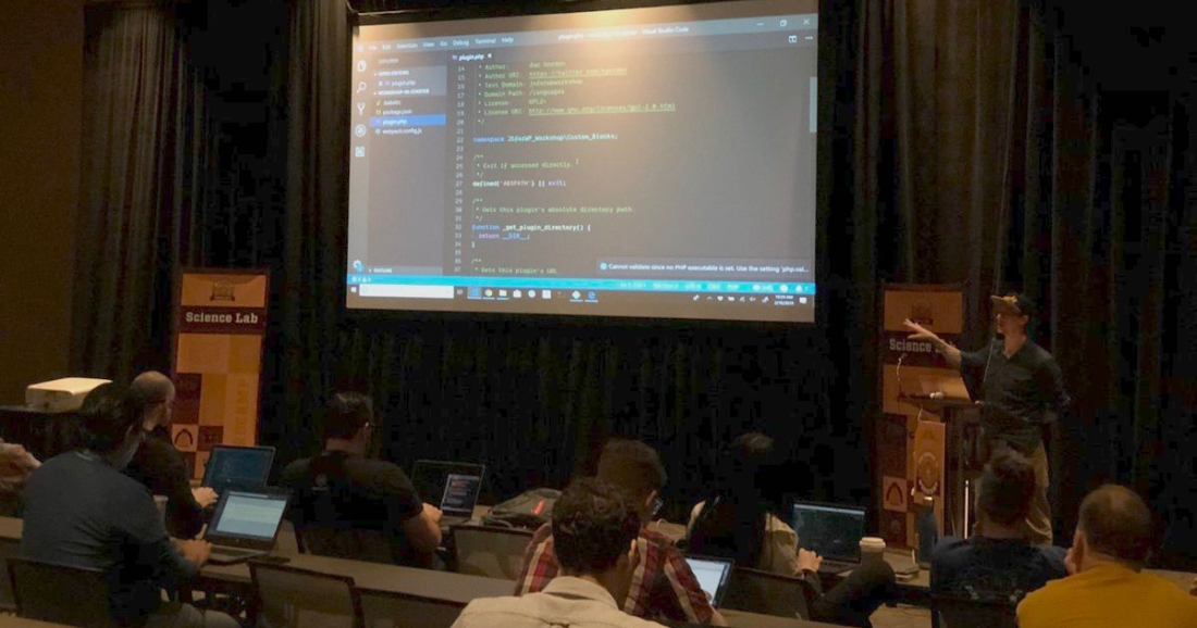 Zac Gordon Speaking at WordCamp Phoenix 2019 on React and Gutenberg Custom Block Development